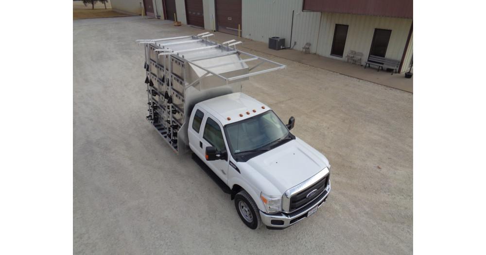 Unruh Fab Kansas Glass Transporting Workhorse Aluminum Enclosed Body 10