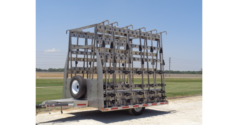 Unruh Fab Kansas Glass Transporting 10' Stainless Bumper Trailer 1