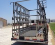 Unruh Fab Kansas Glass Transporting 10' Stainless Bumper Trailer 5
