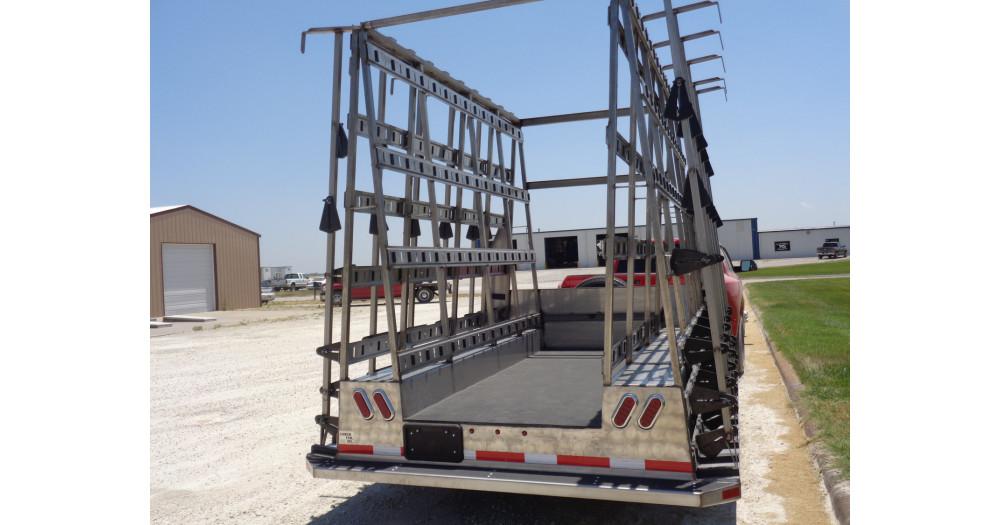 Unruh Fab Kansas Glass Transporting 10' Stainless Bumper Trailer 5