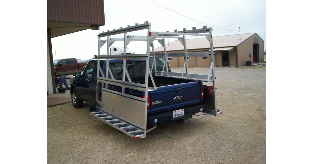 Unruh Fab Kansas Glass Transporting 2013 All Glass CA Pickup Rack 2