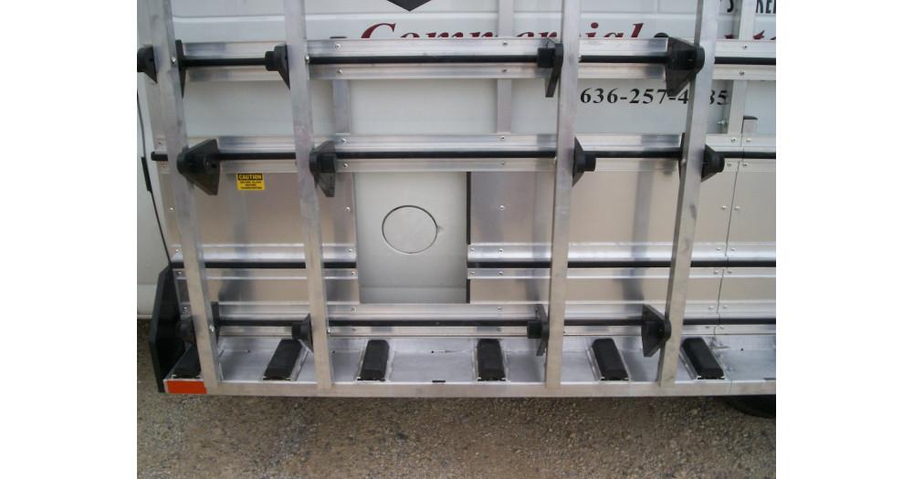 Unruh Fab Kansas Stone Transporting 9' NEW STYLE Van Rack 2