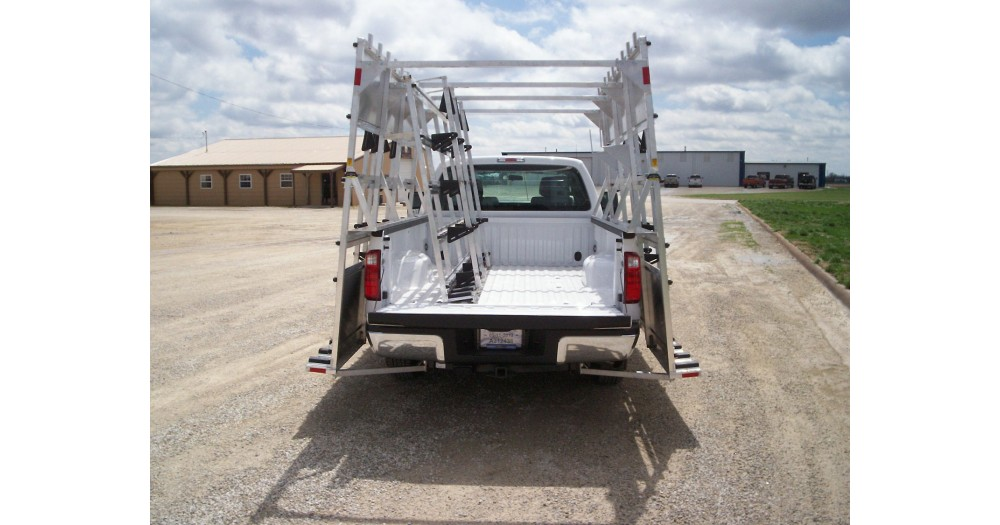 Unruh Fab Kansas Glass Transporting Aluminum Pickup Rack W Interior Rack 4
