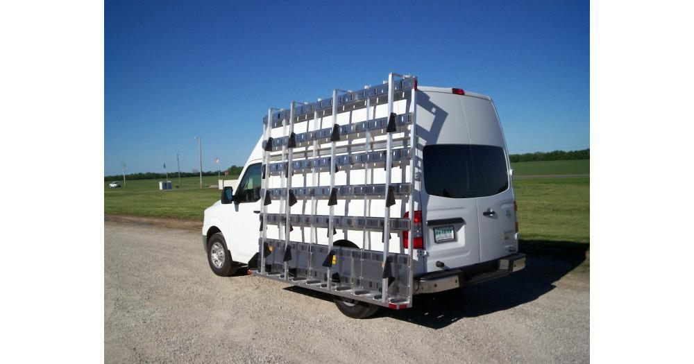Unruh Fab Kansas Stone Transporting Glazing Concepts Nissan NV High Roof 4