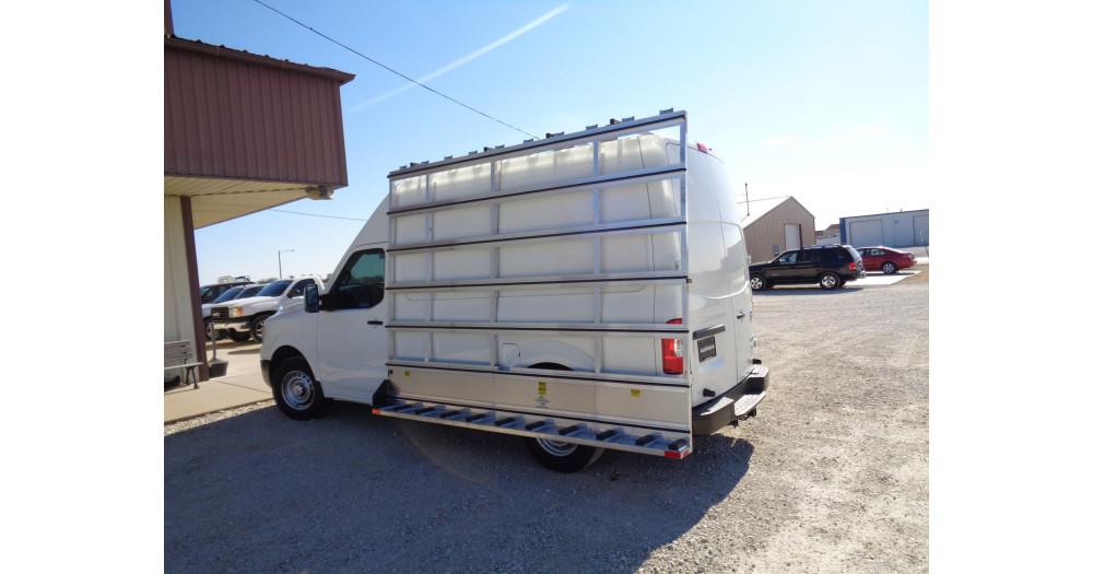 Unruh Fab Kansas Stone Transporting Nissan NV Exterior And Interior Rack 2