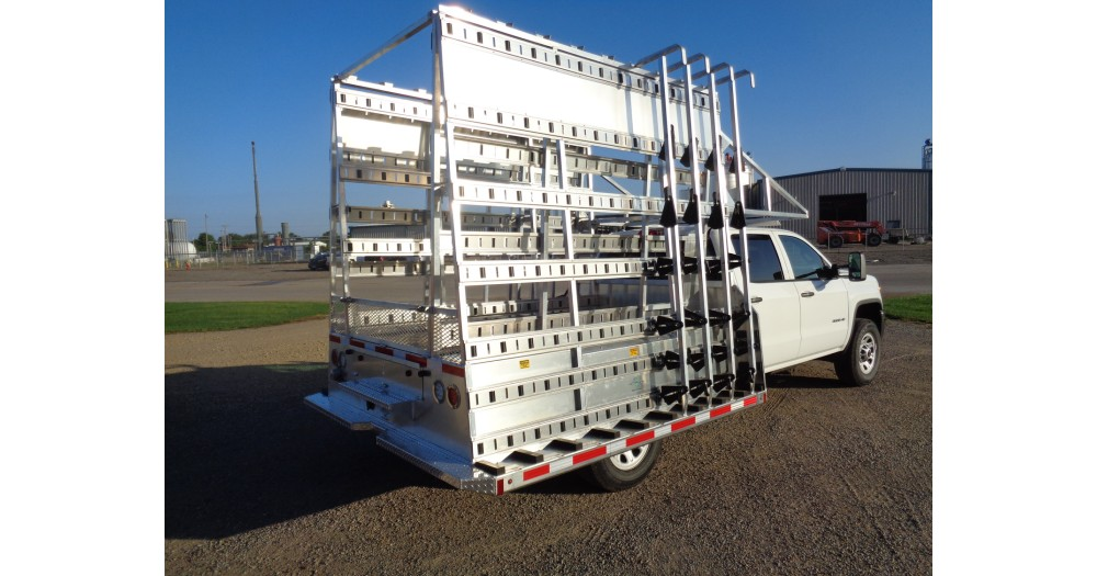 Unruh Fab Kansas Glass Transporting Pickup Racks Aluminum Misc 9