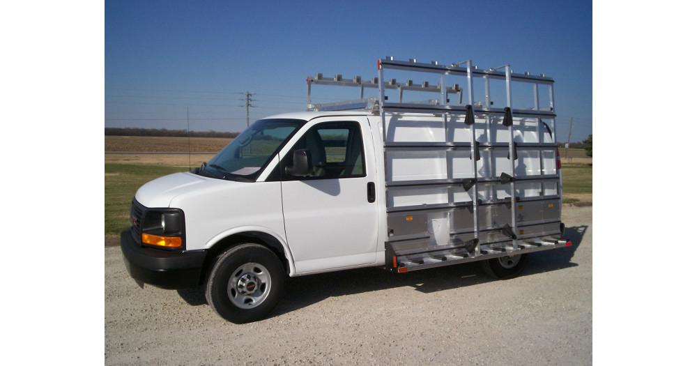 Unruh Fab Kansas Stone Transporting Professional Double Sided Van Rack 3