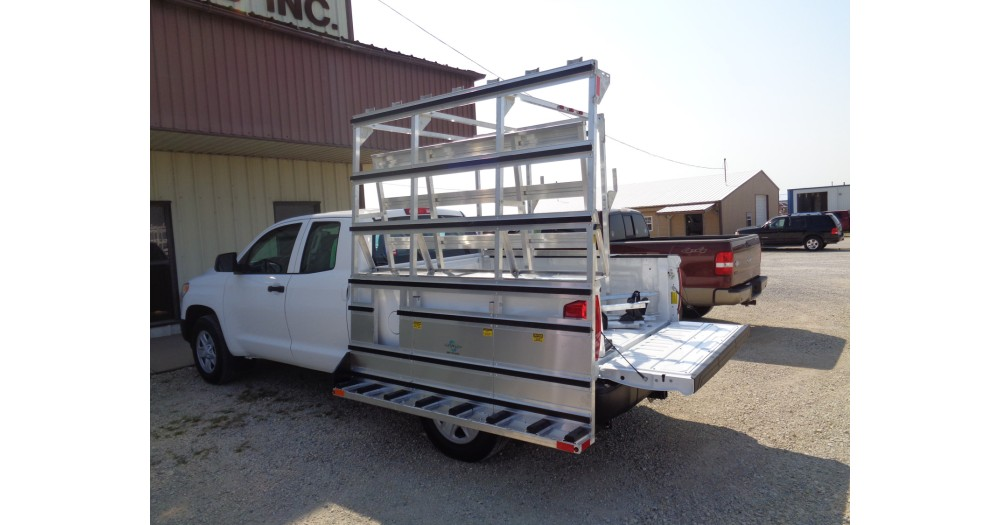 Unruh Fab Kansas Glass Transporting Single Sided Pickup Rack 2
