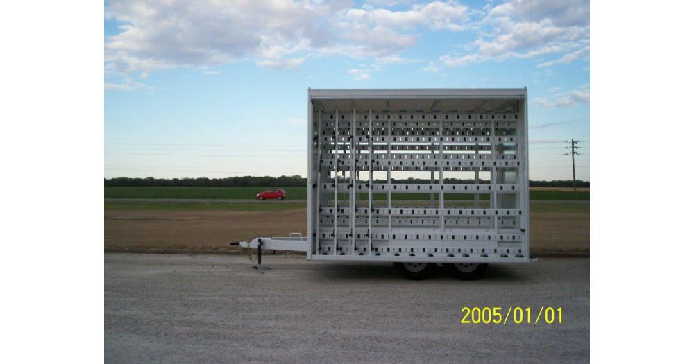 Unruh Fab Kansas Glass Transporting Tarped Bumper Hitch Trailer 4