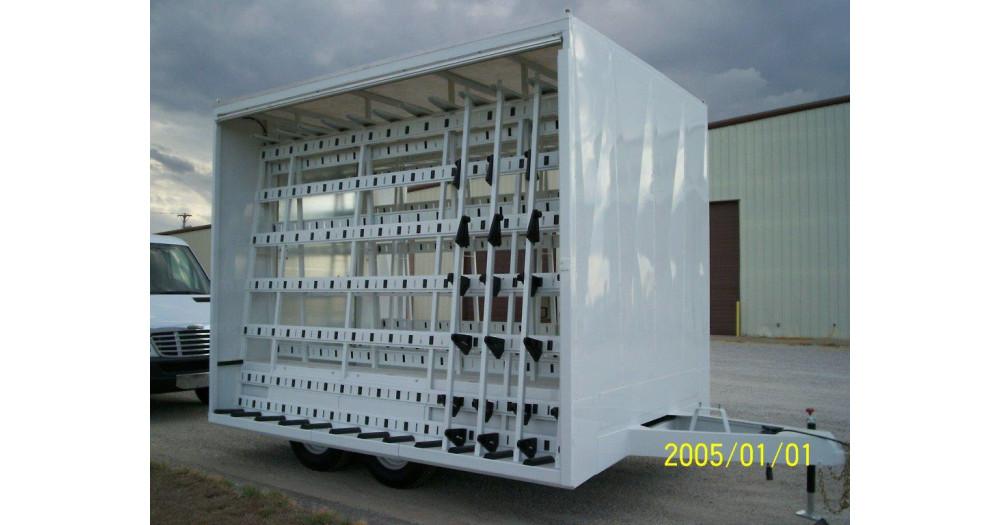 Unruh Fab Kansas Glass Transporting Tarped Bumper Hitch Trailer 6