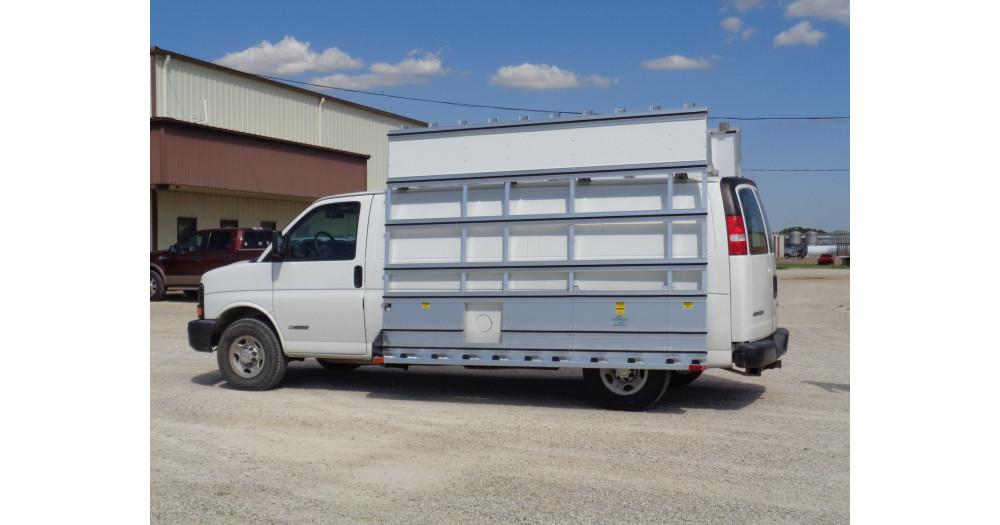 Unruh Fab Kansas Stone Transporting Van Racks Aluminum 8