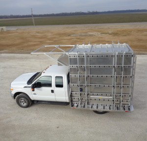 Unruh-Fab-Kansas-glass-transporting-aluminum-A-rack-in-truck-bed-3