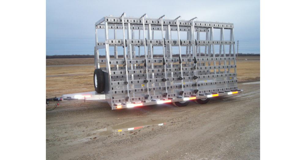 Unruh Fab Kansas Glass Transporting Bumper Hitch Trailers 4